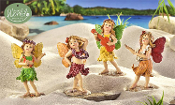 Set/4 Polynesian Fairy Hula Dancers  - EXCLUSIVE