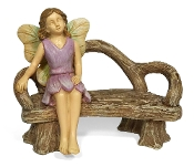 Martha Resting on Bench for Miniature Fairy Gardening