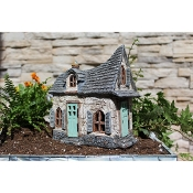 Old Hickory Inn with 2 Opening Doors for Miniature Fairy Gardens