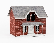 Lightkeepers Brick Cottage for Miniature Fairy Gardening