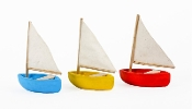 Set/3 Colorful Sailboats for Miniature Fairy Gardening