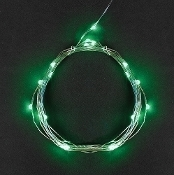 25 Green Fairy Lights (10' Long)  for Miniature Fairy Gardens