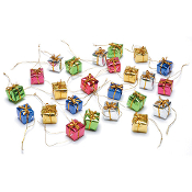 "Set/24 Miniature Foil Gifts 1/2"" For Miniature Fairy Gardens"
