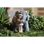 Elephant Hugs for Miniature Fairy Gardens