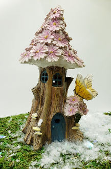 "8"" Butterfly Solar Fairy House For Miniature Gardens - EXCLUSIVE"