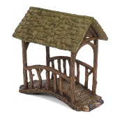 Covered Fairy Bridge For Miniature Gardens