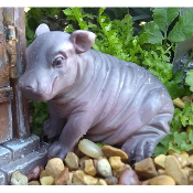 Harriet the Hippo for Miniature Fairy Gardens