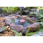 Lily Pad Stone Pond for Miniature Fairy Gardens