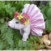 Percy the Purty Pig for Miniature Fairy Gardens