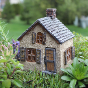 "6"" The Gables House for Fairy Gardens with Swinging Door"