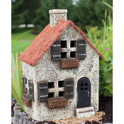 "10"" Fairlight House for Fairy Gardens with Swinging Door"