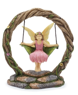 Krista In Infinity Circle Swing for Miniature Fairy Gardens