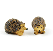 Set of 2 Miniature Hedgehogs for Fairy Gardens