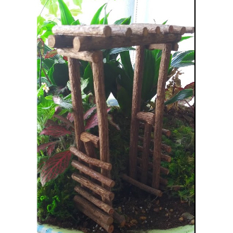 Handcrafted Wood Twig Arbor for Miniature Fairy Garden