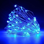 25 Blue Fairy Lights (10' Long)  for Miniature Fairy Gardens