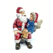 Robbie's Wish with Santa Fairy for Miniature Fairy Gardens