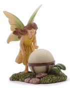 Fairy with Glowing Orb for Miniature Fairy Gardens