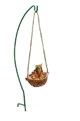 Fairy in Walnut Swing for Miniature Fairy Gardens