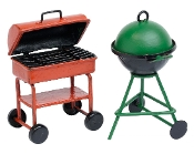Set/2 Gas and Charcoal Grill For Miniature Fairy Gardens