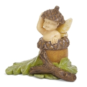 Oliver,  Fairy Baby in Acorn For Miniature Gardens