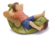 Christian Enjoying A Lazy Day Fairy For Miniature Gardens