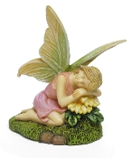 Mya the Resting Fairy for Miniature Fairy Gardens
