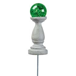 Metallic Green Glass Gazing Ball For Miniature Fairy Gardens